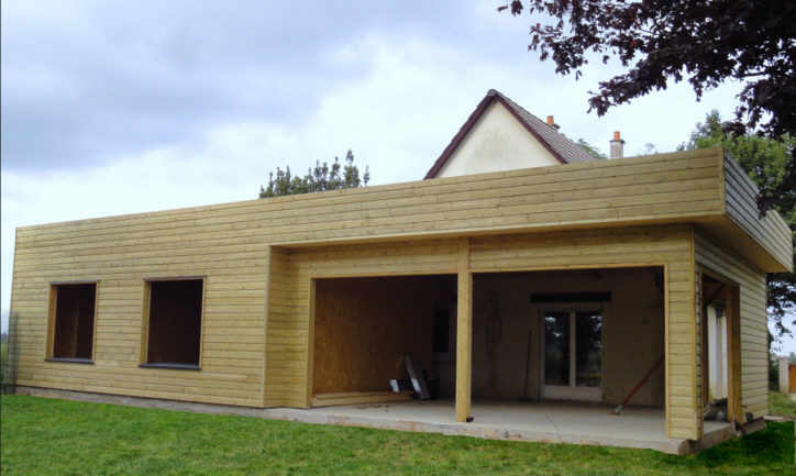 Extensions r alis es par l 39 entreprise de charpente de for Extension pavillon